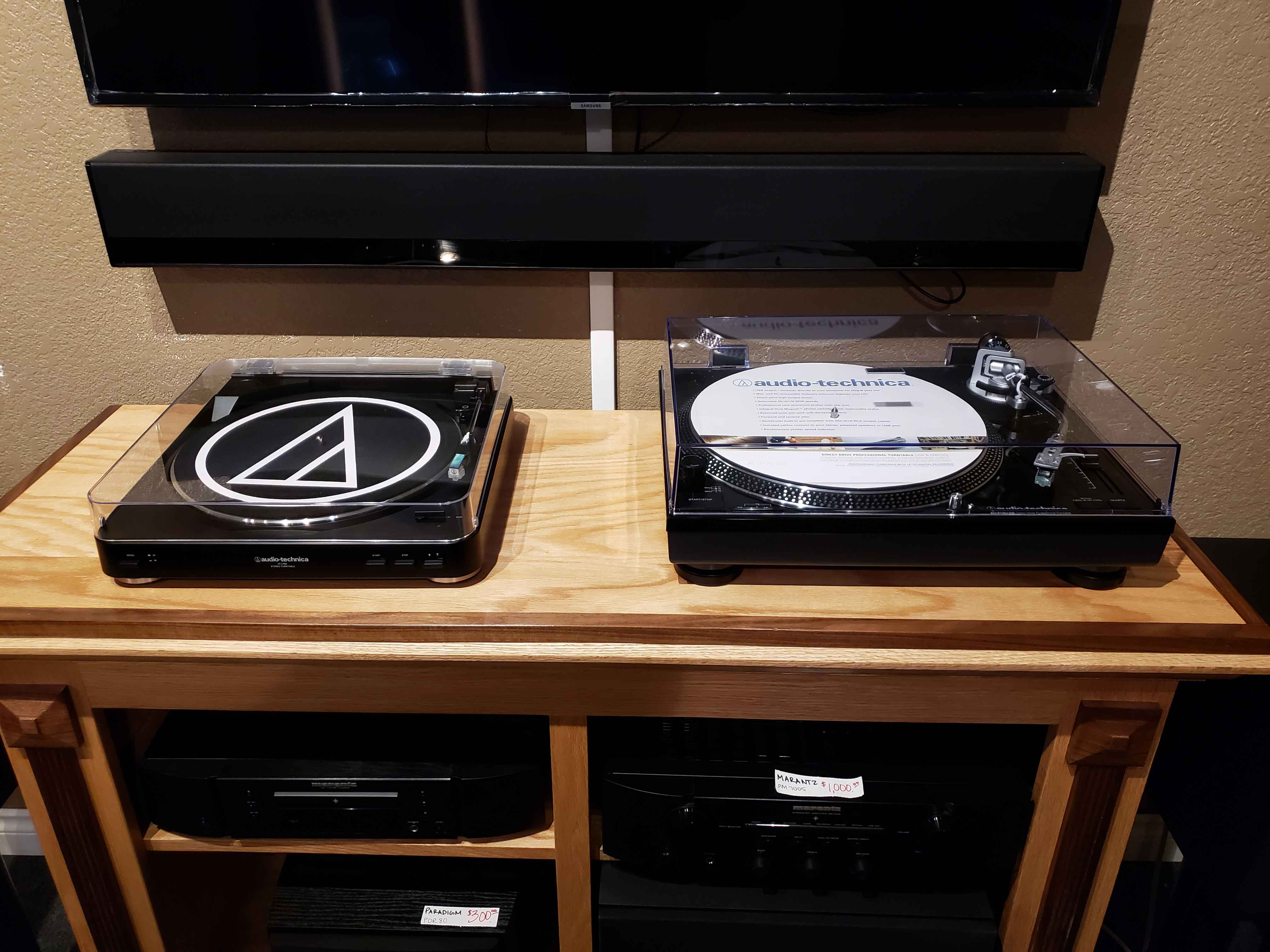 The AT-LP60BK and AT-LP120BK on display at 2715 NW 9th St., Corvallis OR 97330 or buy online with FREE USA shipping below.