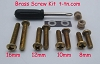 Turntable Cartridge Headshell Mounting Hardware Brass Screw Kit