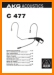 AKG C-477 Cable - Accessory - Misc Main User Book - PDF & Tech Help* | English