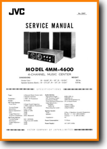 Jvc 4 Mm 4600 Solid State Amp Receiver On Demand Pdf