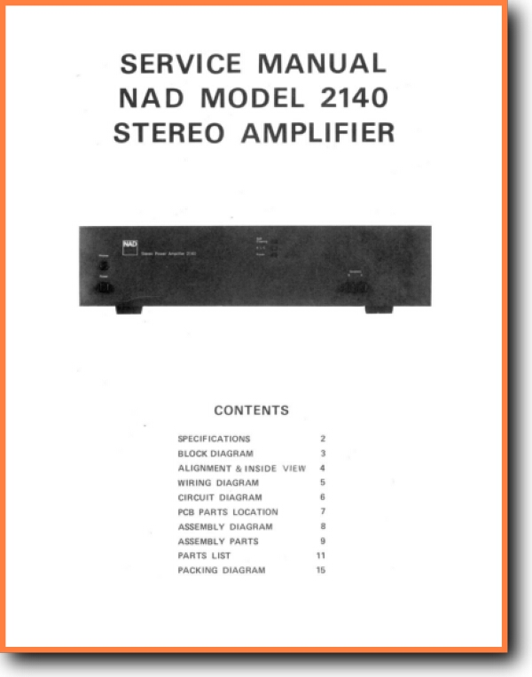 NAD 2140 Solid State Amp Receiver - On Demand PDF Download | English