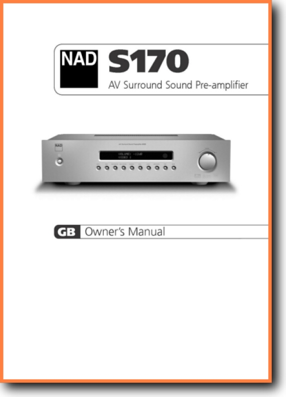 NAD S-170 Solid State Amp Receiver - On Demand PDF Download | English