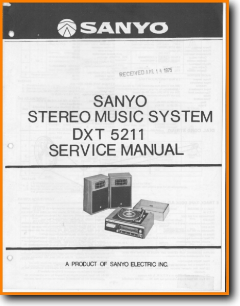 Sanyo DXT-5211 Mini Shelf System Main Technical Manual - PDF & Tech Help* |  English