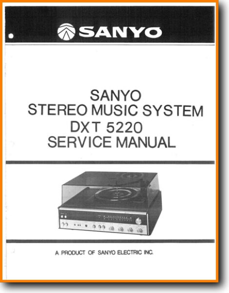 Sanyo DXT-5220 Mini Shelf System - On Demand PDF Download | English