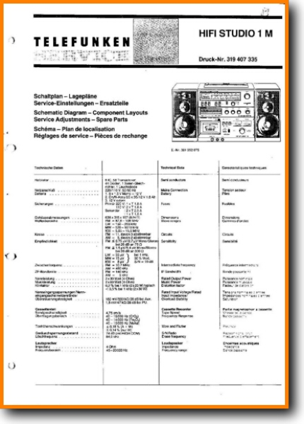 Telefunken HIFI-STUDIO-1-M Mini Shelf System - On Demand PDF Download |  English
