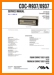 Aiwa CDCR-937 Automotive Audio Main Technical Manual - PDF & Tech Help* | English