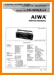 Aiwa CS-350-OLE Portable Stereo Main Technical Manual - PDF & Tech Help* | English