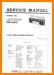 Aiwa CS-360 Portable Stereo Main Technical Manual - PDF & Tech Help* | English
