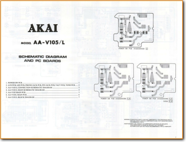 Akai AAV-105-L Solid State Amp Receiver - On Demand PDF Download | on