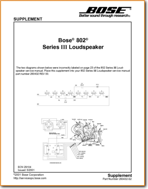 Bose 802-MkIII Loudspeaker - On Demand PDF Download | English_AddendumBTurntable Needles