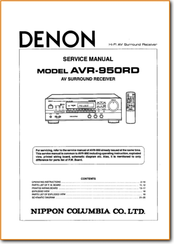 Denon Avr-950-rd Solid State Amp Receiver