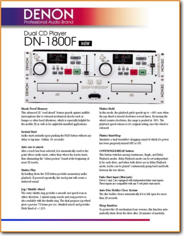 Denon DN-1800-F Tape Player - On Demand PDF Download | English