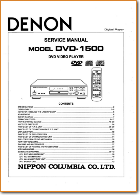 Fantastic Denon Dvd 1500 Dvd Player On Demand Pdf Download English Wiring Digital Resources Cettecompassionincorg