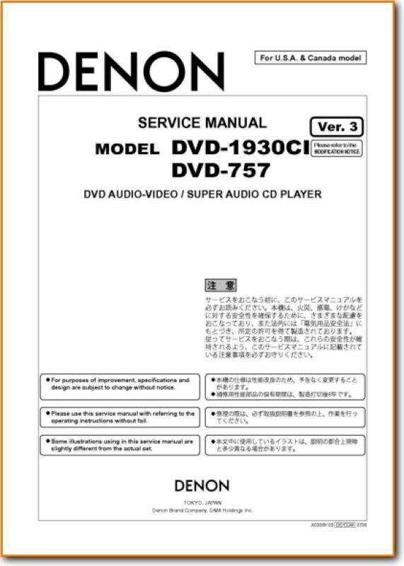 Denon dvd-1930ci dvd/cd/sacd/dvd-audio player with 1080p video.