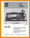 Dual 1011 Turntable Record Player Main Technical Manual - PDF & Tech Help* | English