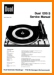 Dual 1215-S Turntable Record Player Main Technical Manual - PDF & Tech Help* | English