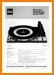 Dual 1215 Turntable Record Player Main Technical Manual - PDF & Tech Help* | German