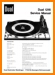 Dual 1216 Turntable Record Player Main Technical Manual - PDF & Tech Help* | English