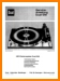 Dual 1219 Turntable Record Player Main Technical Manual - PDF & Tech Help* | German