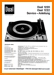 Dual 1222 Turntable Record Player Main Technical Manual - PDF & Tech Help* | German
