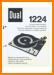 Dual 1224 Turntable Record Player Main User Book - PDF & Tech Help* | English