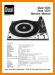 Dual 1224 Turntable Record Player Main Technical Manual - PDF & Tech Help* | English