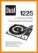 Dual 1225 Turntable Record Player Main User Book - PDF & Tech Help* | German