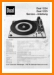 Dual 1225 Turntable Record Player Main Technical Manual - PDF & Tech Help* | German