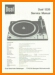 Dual 1226 Turntable Record Player Main Technical Manual - PDF & Tech Help* | English