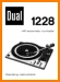 Dual 1228 Turntable Record Player Main User Book - PDF & Tech Help* | English
