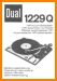 Dual 1229-Q Turntable Record Player Main User Book - PDF & Tech Help* | English