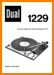 Dual 1229 Turntable Record Player Main User Book - PDF & Tech Help* | French
