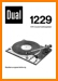 Dual 1229 Turntable Record Player Main User Book - PDF & Tech Help* | German