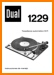 Dual 1229 Turntable Record Player Main User Book - PDF & Tech Help* | Spanish