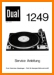 Dual 1249 Turntable Record Player Main Technical Manual - PDF & Tech Help* | German