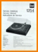 Dual 1254 Turntable Record Player Main Technical Manual - PDF & Tech Help* | English