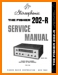 Fisher 202-R Tube Amplifier Main Technical Manual - PDF & Tech Help* | English