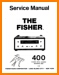 Fisher 400 Tube Amplifier Main Technical Manual - PDF & Tech Help* | English