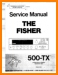 Fisher 500-TX Tube Amplifier Main Technical Manual - PDF & Tech Help* | English
