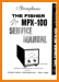 Fisher MPX-100 Tube Amplifier Main Technical Manual - PDF & Tech Help* | English