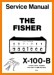 Fisher X-100-B Tube Amplifier Main Technical Manual - PDF & Tech Help* | English