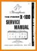 Fisher X-100 Tube Amplifier Main Technical Manual - PDF & Tech Help* | English