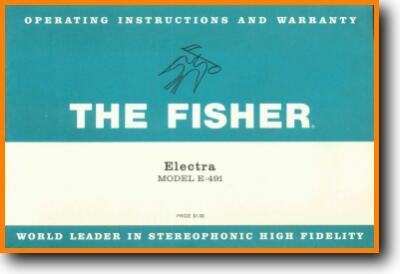 Fisher ELECTRA-E-491 Legacy Radio - On Demand PDF Download   English