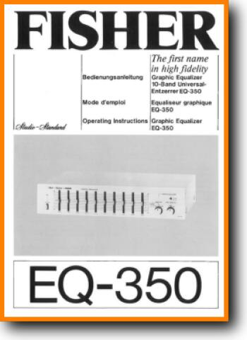 Fisher EQ-350 Solid State Amp Receiver - On Demand PDF Download   English