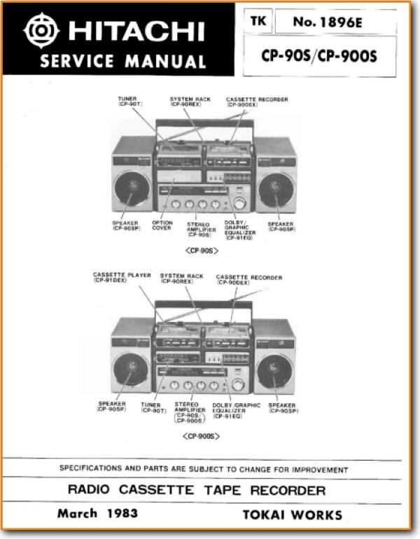 Hitachi Cp 90 S Portable Stereo On Demand Pdf Download