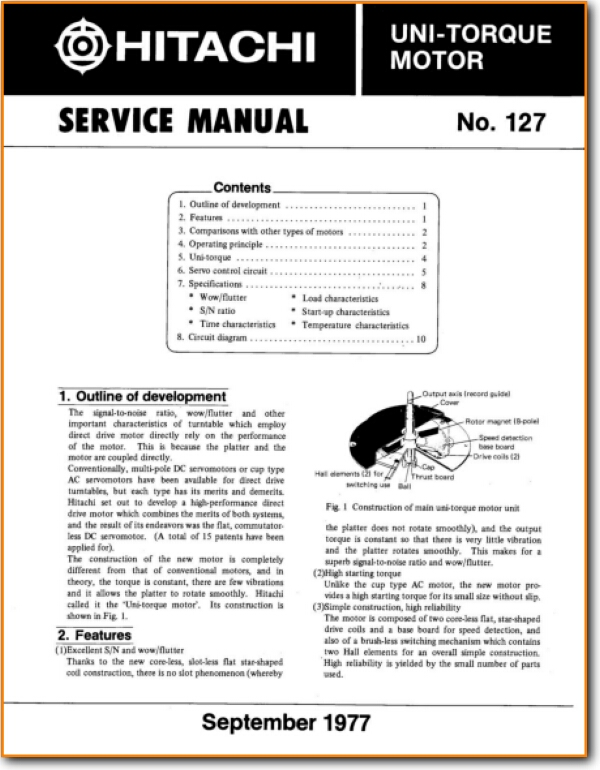 Hitachi Uni-Torque-Motor Cable - Accessory - Misc - On Demand PDF Download    English