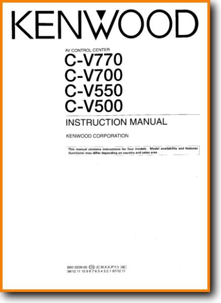 Kenwood Cv 700 Solid State Amp Receiver On Demand Pdf Download English