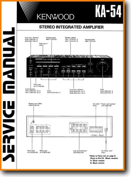 kenwood ka 54 solid state amp receiver on demand pdf download kenwood amplifier wiring diagram kenwood 921 amp wiring diagram #3