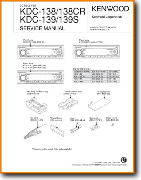 kenwood kdc138 automotive audio  on demand pdf download  english