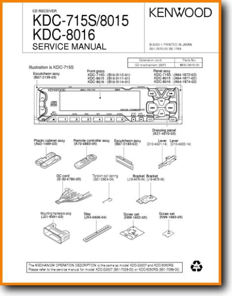 Kenwood KDC-715-S Automotive Audio - On Demand PDF Download | English